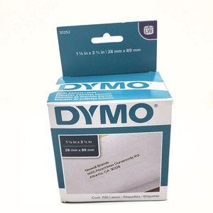"Dymo White Blank Address Label - 1 1/8"" x 3 1/2"" 7"